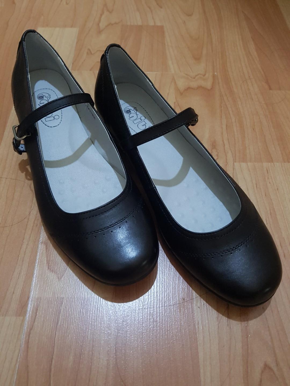 Gibi leather school shoes, Women's