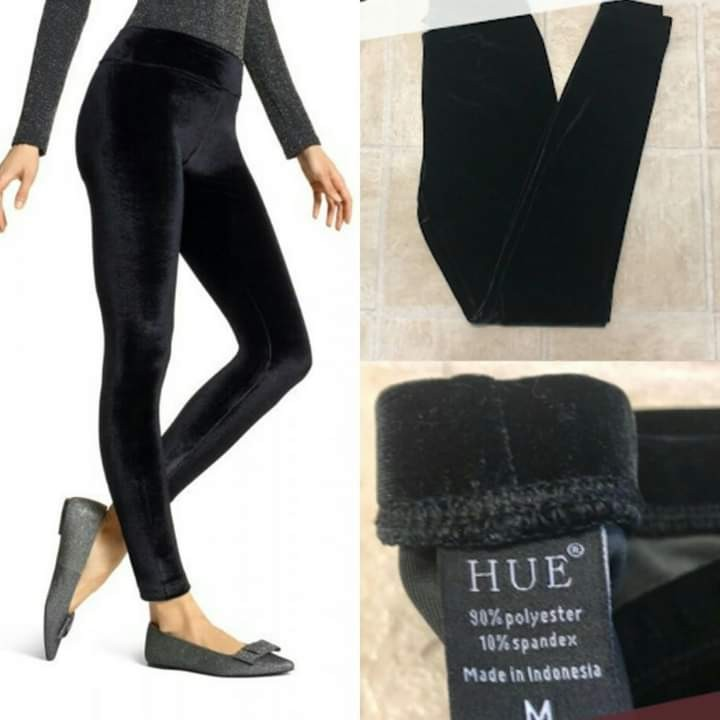 cf07a1f5c9087 Hue Wide Waistband Velvet Leggings ✓ S-M-L- BLACK ONLY✓OVERRUNS ...