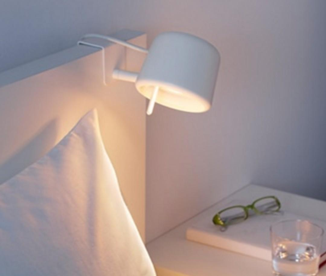 Ikea Varv Clamp Reading Bedside Lamp Light Dimmable Furniture