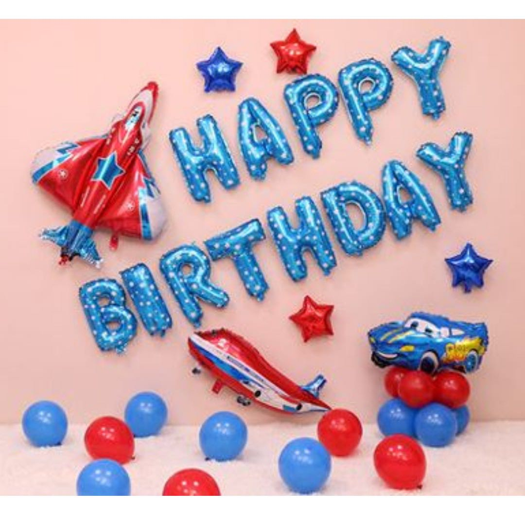 In StockCars Theme Birthday Party Decoration Set Design Craft