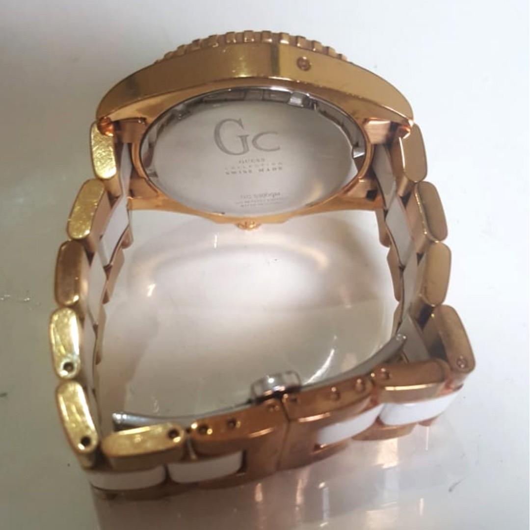 Jam GC Keramik White Gold Original