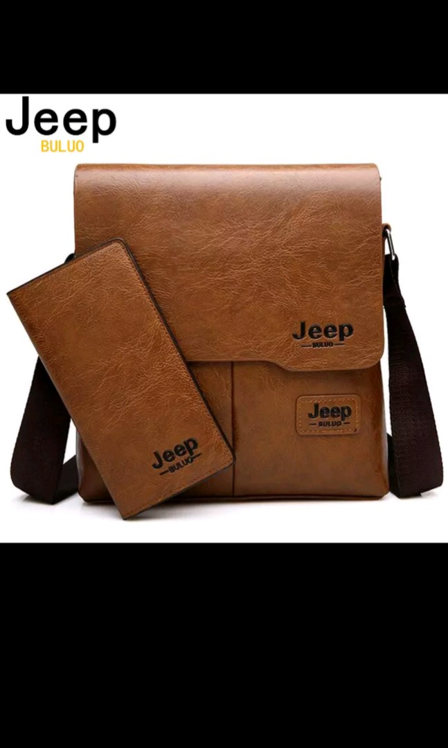 322f68f707 JEEP BULUO Man Messenger Bag 2 Set Men Pu Leather Shoulder Bags ...