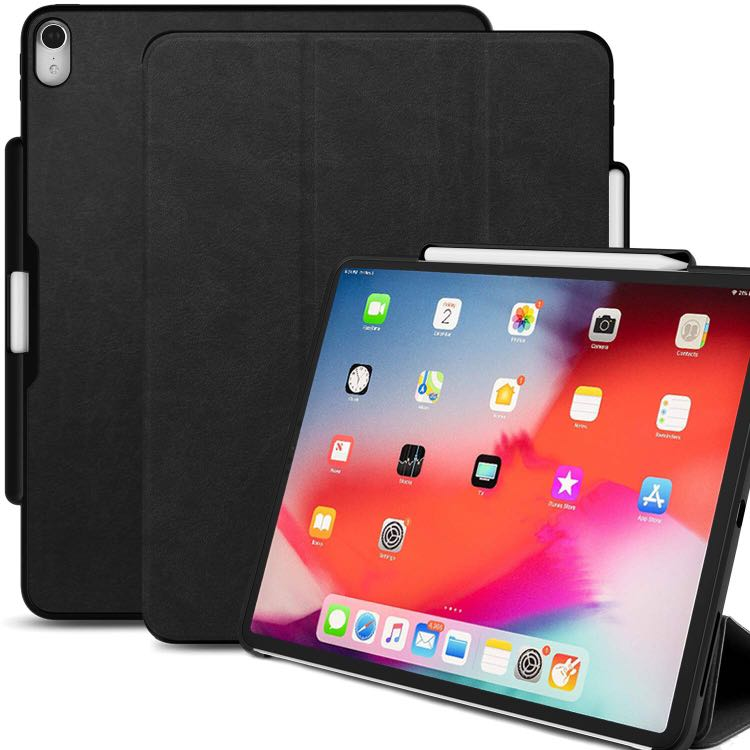 promo code d17ba 07713 Khomo Dual Case with Pencil Holder for iPad Pro 12.9 2018