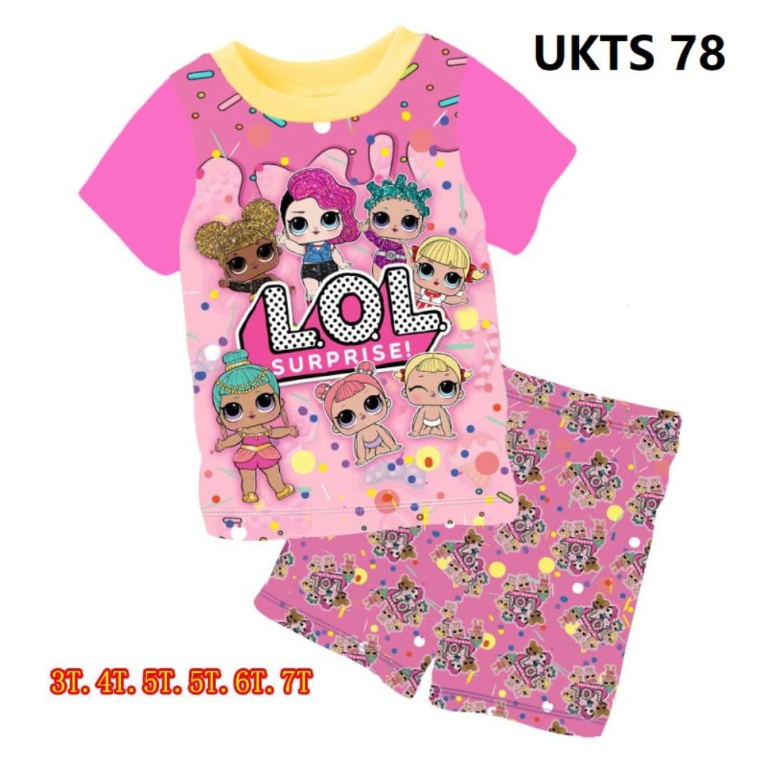 LOL  Short Sleeve Tshirt/Shorts Set for ( 3 to 7  yrs old)