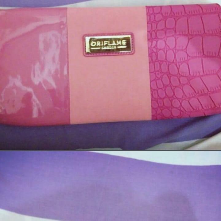 Lv semi premium non ori free clutch pink oriflame new