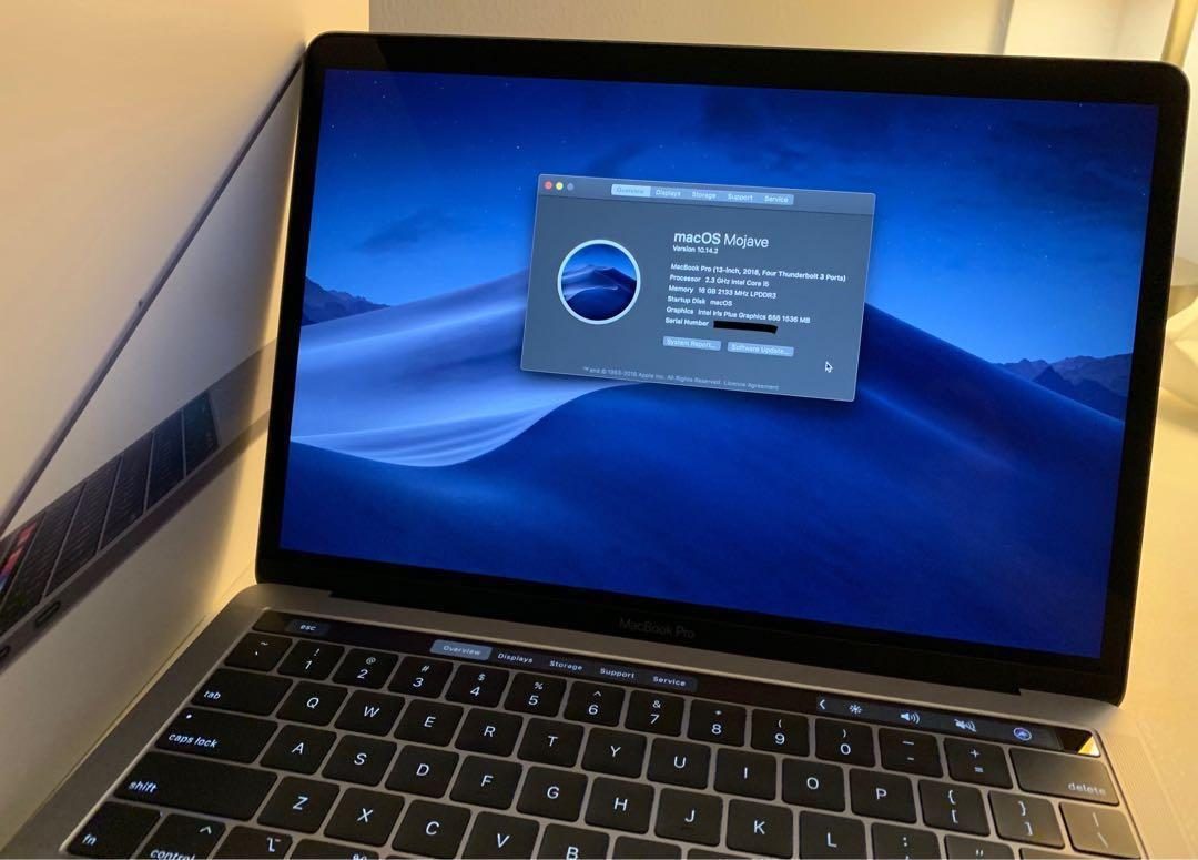 """Macbook Pro 13"""" Touch Bar (Late 2018, Space Gray, 16GB RAM"""