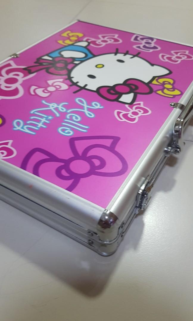 Mahjong Big Black Gold Hello Kitty Set With Animals Tile Complete Set