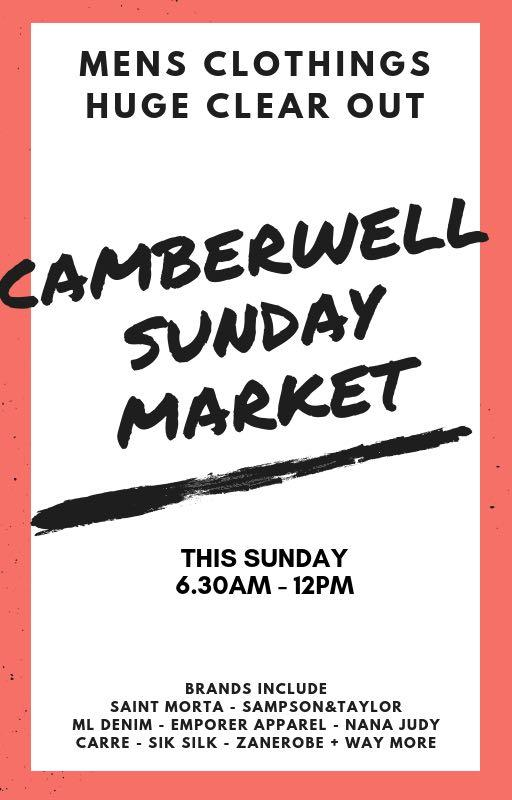 Mens Clothing Clear Out - Sunday Camberwell Market