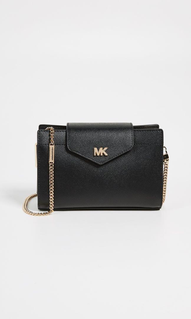 f78ac83d3742 Michael Kors Black Convertible Crossbody/Clutch, Women's Fashion ...