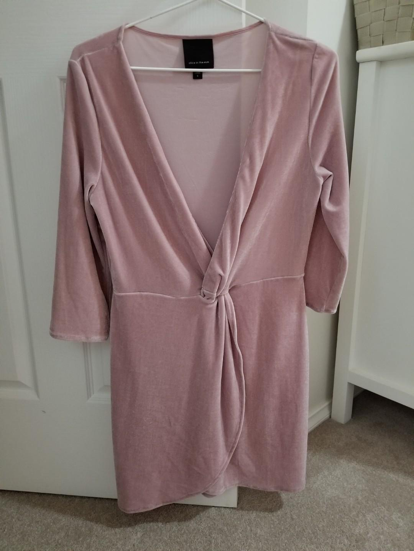 PINK SOFT VELVET DRESS