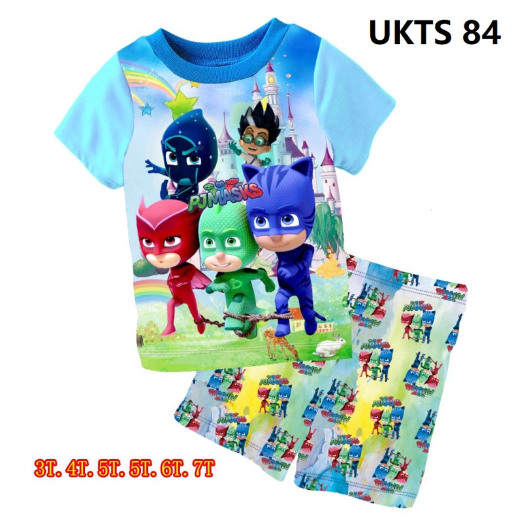 7d14052e9 PJ Masks Blue Short Sleeve Tshirt Shorts Set for ( 3 to 7 yrs old ...