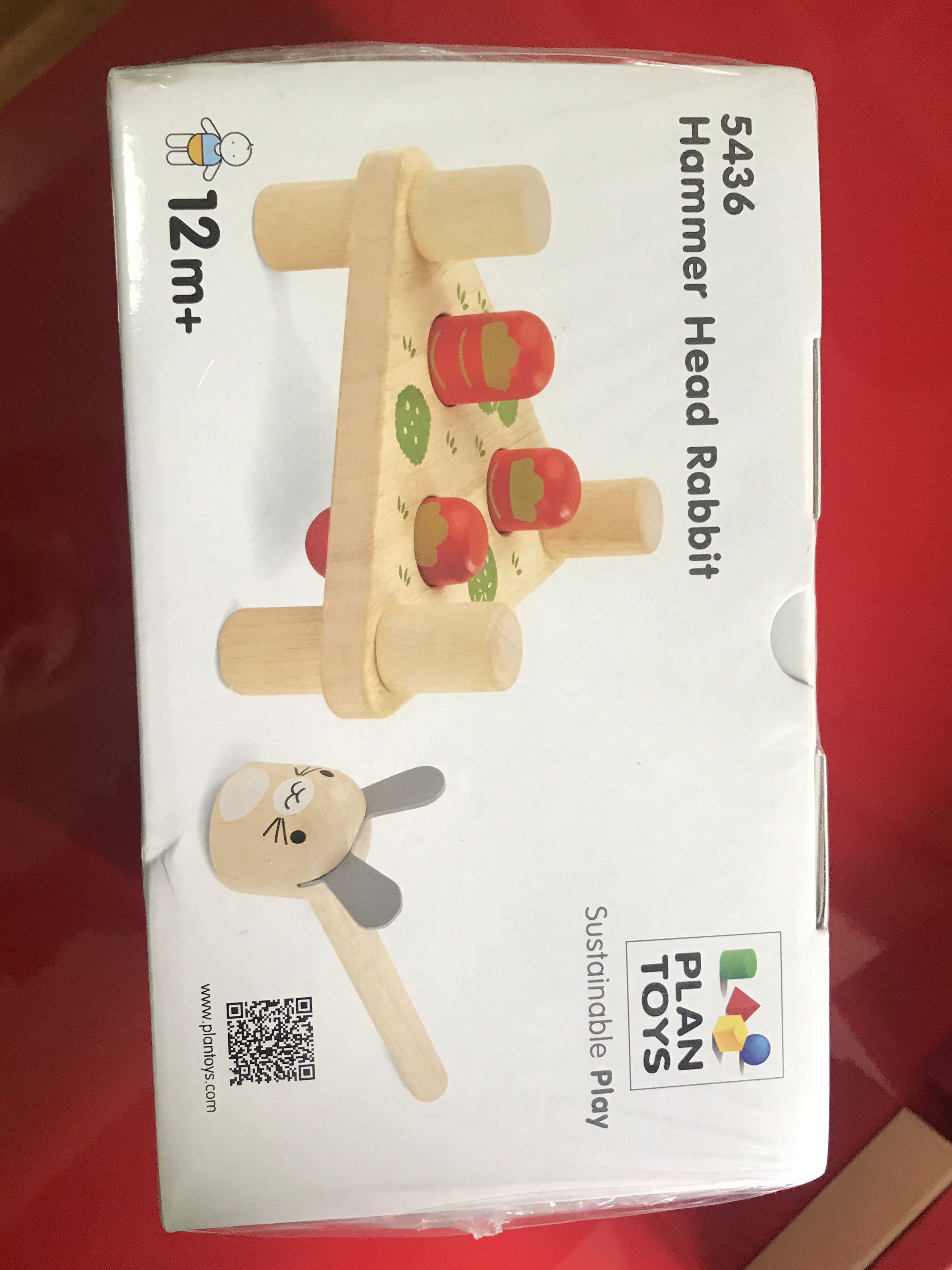 plan toys bnib hammer head rabbit