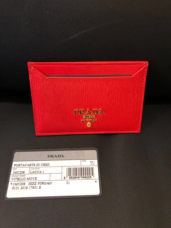 6f208b3dc37d ✌️Prada red card holder✌ , Luxury, Bags & Wallets, Others on ...