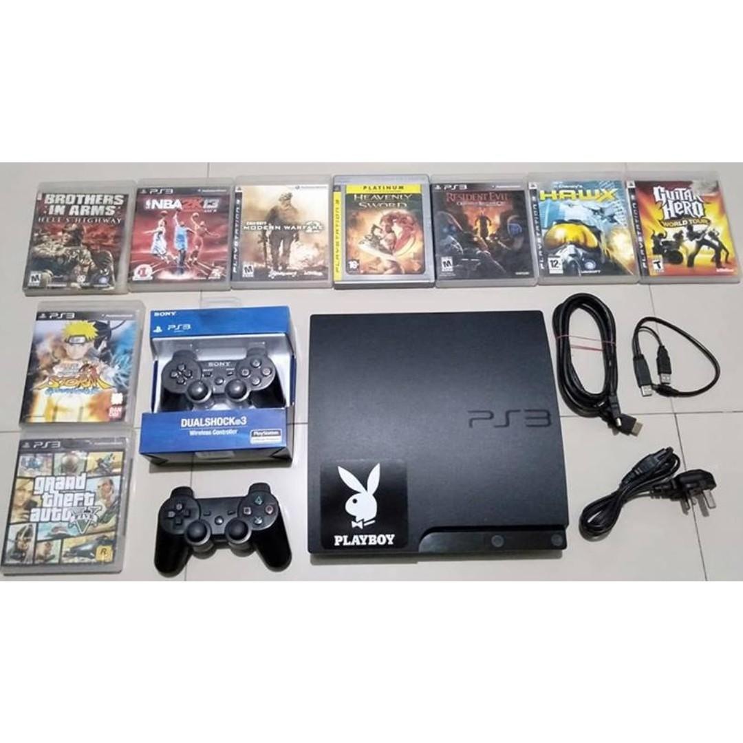 Ps3 Playstation 3 Slim With 9 Cd Games 5 Injected Games And 2 Ds3 Controller Video Gaming Video Game Consoles On Carousell