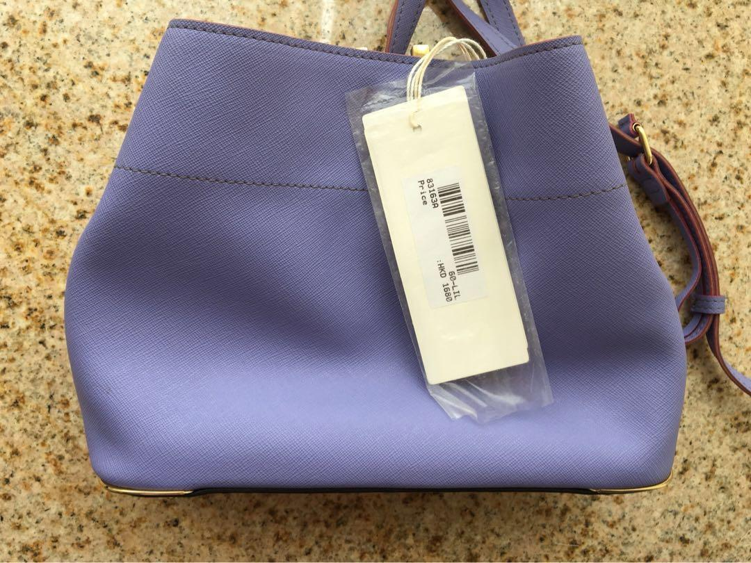 Rabeanco small leather lilac bag