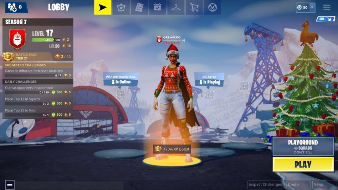 Selling fortnite account with galaxy skin, Toys & Games