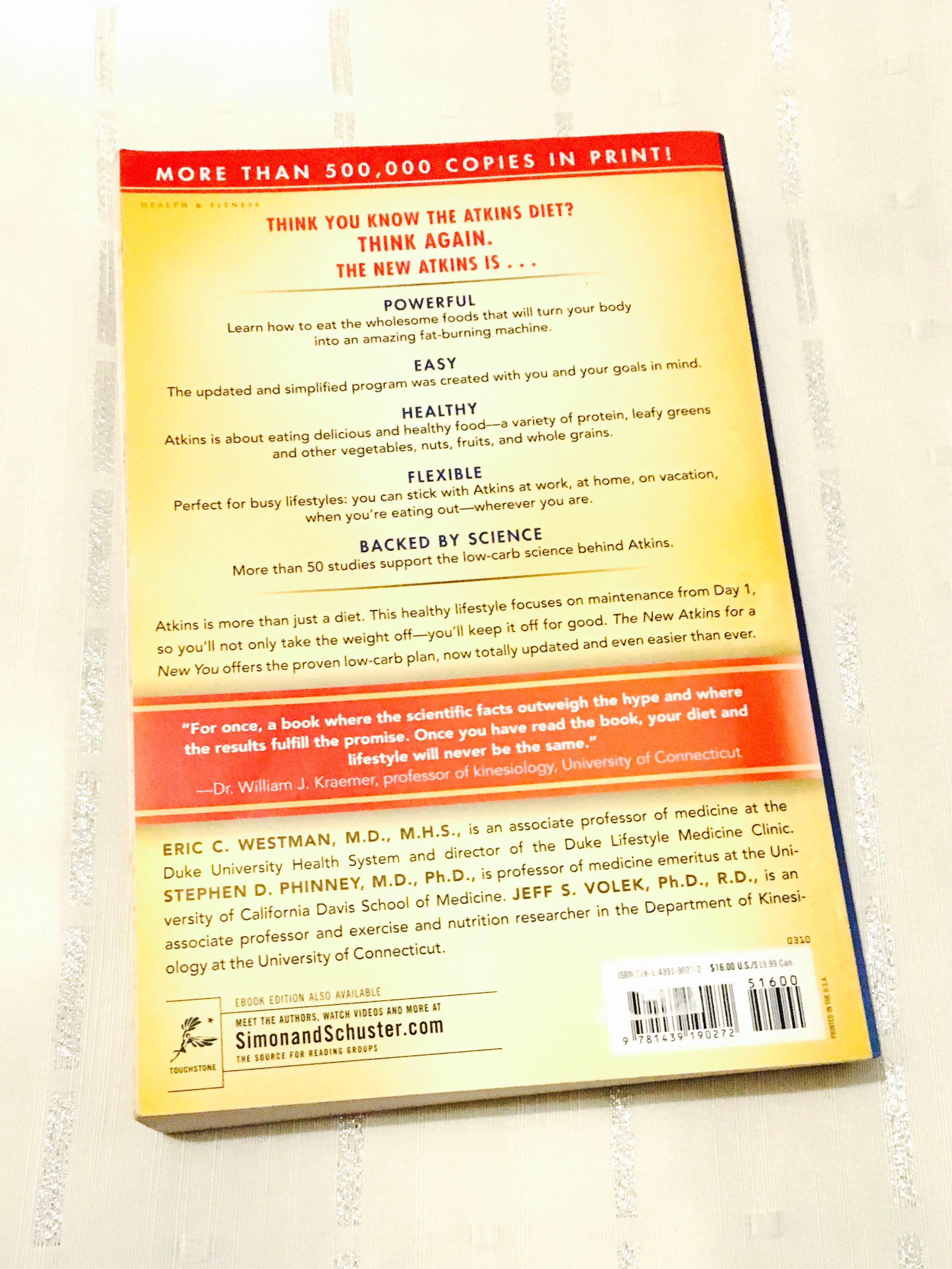 The New Atkins For A New You by Eric C Westman MD Health Book