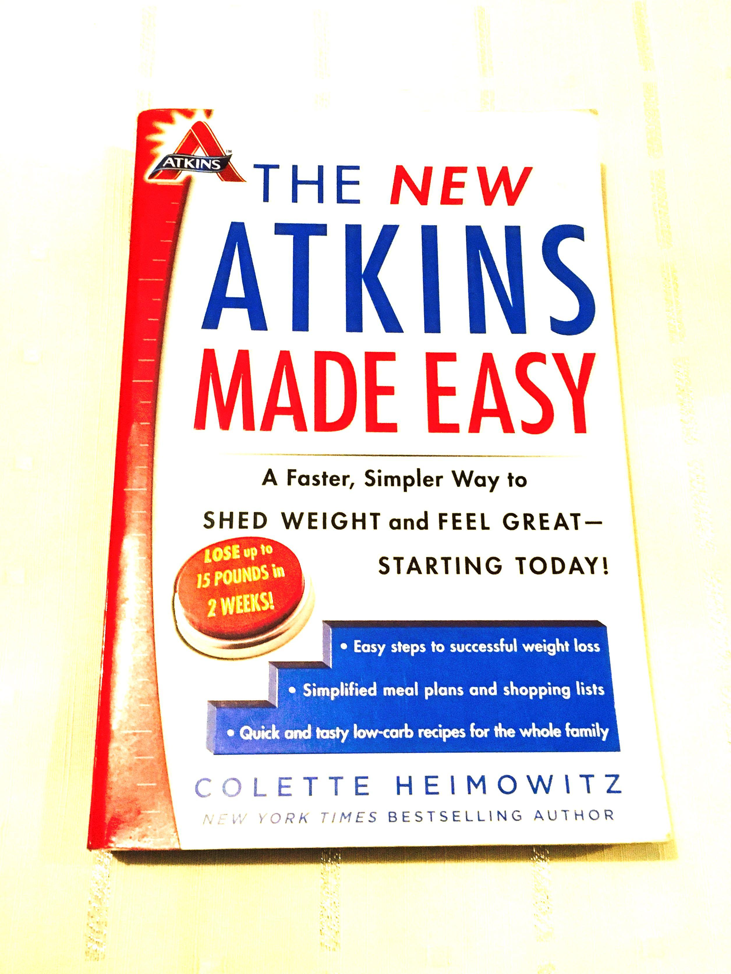 The New Atkins Made Easy By Colette Heimowitz Diet Book
