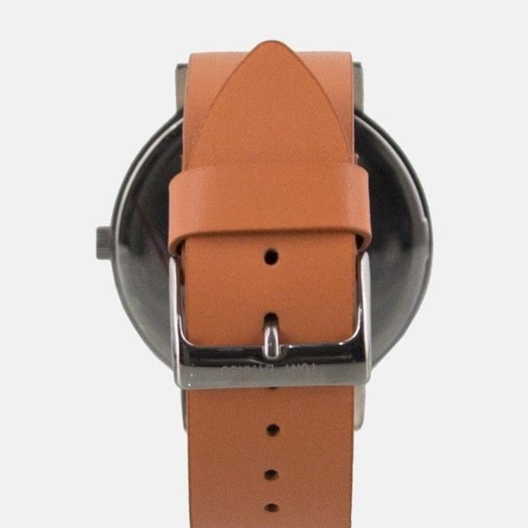 Tony Bianco Watkins Watch - Silver Dial with Tan Colour Leather Strap