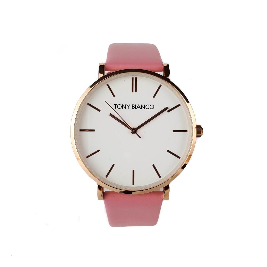 Tony Bianco Williams Rose Gold Dial Watch - Pink Leather Strap