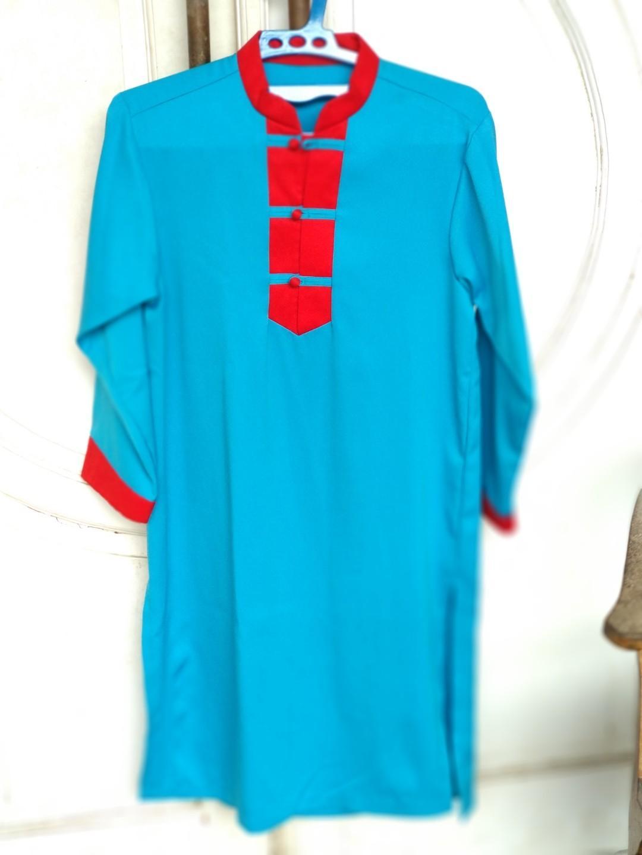 Tunik Biru Merah