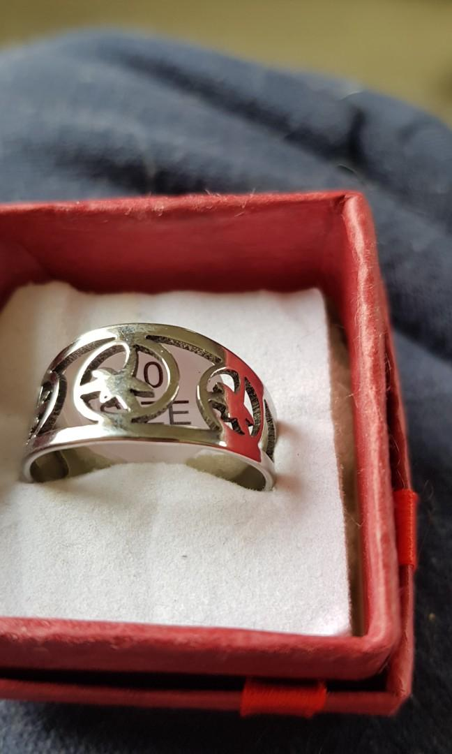 Unisex Stainless Steel Ring size 10 and 11
