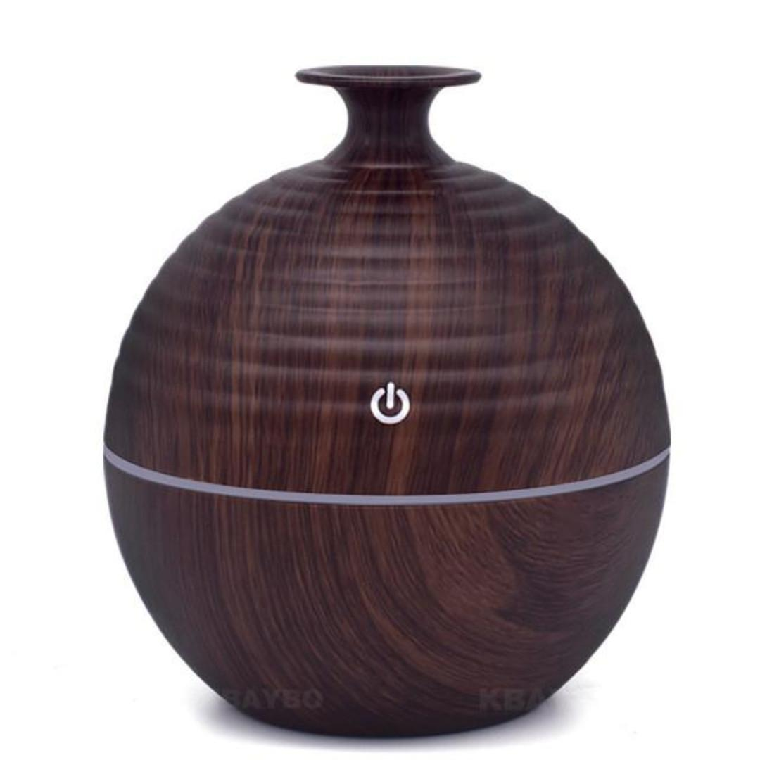 USB Aroma Diffuser Essential Oil with LED Light 130ml (Olia)