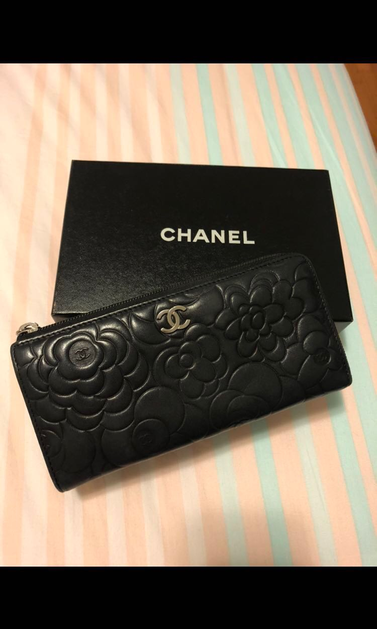 17202feed2428b Used Authentic Original Chanel Women S Wallet Camellia Flower · Chanel  Flower Embroidered Tweed Clic Flap Bag