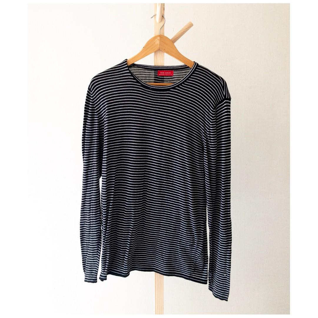 dc36c3cf Zara Striped Long Sleeve Shirt, Men's Fashion, Clothes, Tops on ...