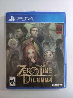 PS4 Zero time dilemma game