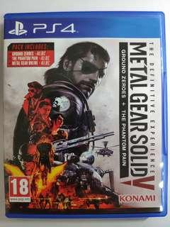 PS4 Metal gear solid 5 The definitive experience