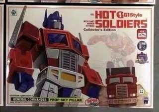 Transformers Hot Soldiers - HS-02 Optimus Prime (MISB) plus 1 Free Autobot Decal Sticker Sheet