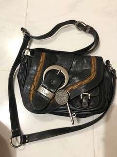 Dior gaucho leather saddle bag