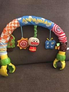 Like-new Anpanman baby toy for stroller, cot and rocking bed