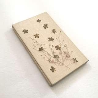 Pressed Leaf and Flower Eco Notebook