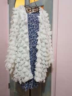 🚚 正韓愛心雪紡外套