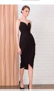 Doublewoot Domizix Black Dinner Classy Dress
