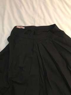 Full length black skirt