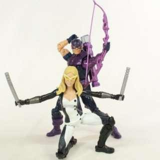 (MISB) Marvel Legends Hawkeye and Mockingbird figures