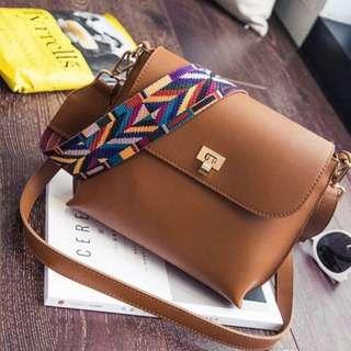 BN Brown Sling Bag