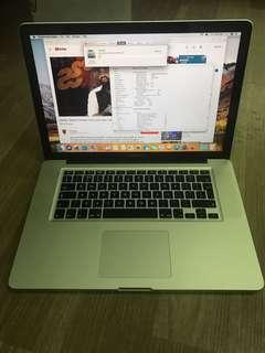 MacBook Pro 15,i7,4gb,500gb early 2011
