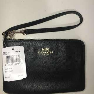 Coach Wallet Small Black Authentic