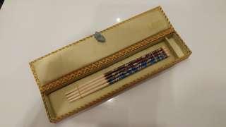 影泰藍筷子禮盒對裝