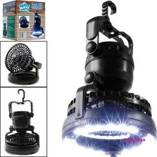 Camping Light Lamp with Fan