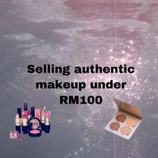 Selling authentic makeup under rm100🎀