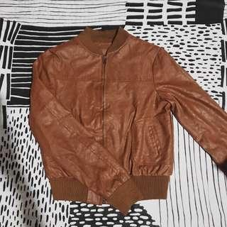 Synthetic leather/Brown/Jacket
