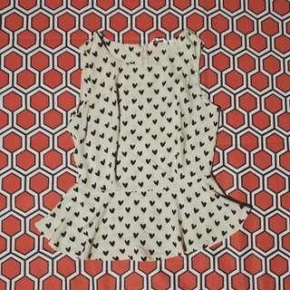 New Look/Heart dots/Peplum/Tops