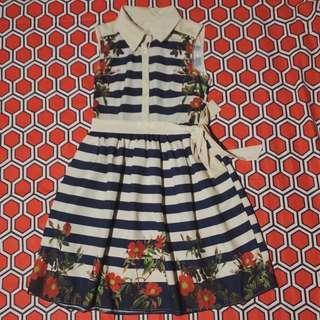 Bangkok/Stripes/Floral/Dress