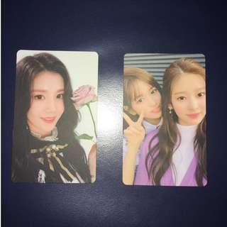 WTT: IZ*ONE Eunbi & Yujin + Minju (unit) Photocard