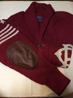 Polo By Ralph Lauren red wool sweater